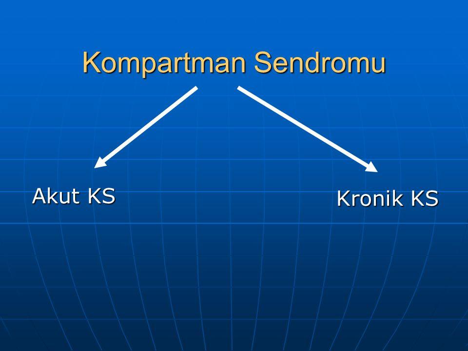 Kompartman Sendromu Akut KS Kronik KS