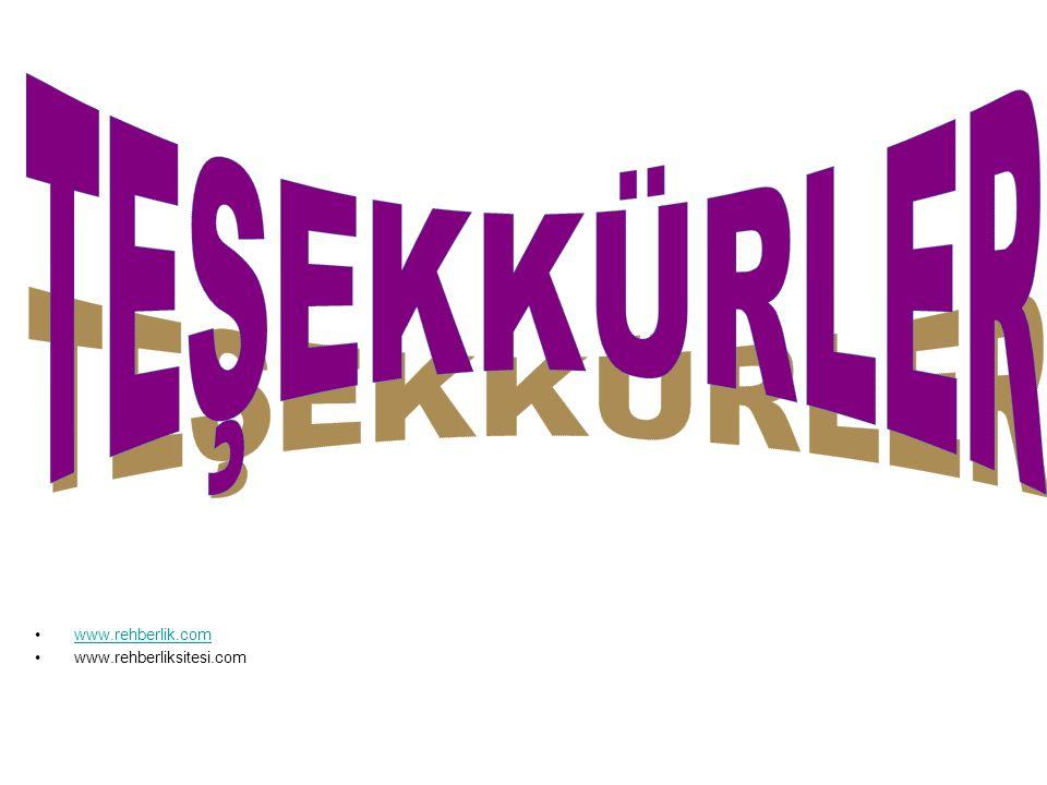 TEŞEKKÜRLER www.rehberlik.com www.rehberliksitesi.com