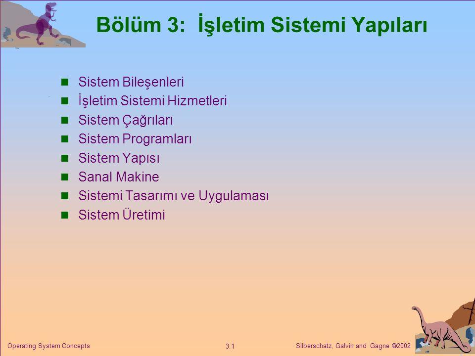Bölüm 3: İşletim Sistemi Yapıları