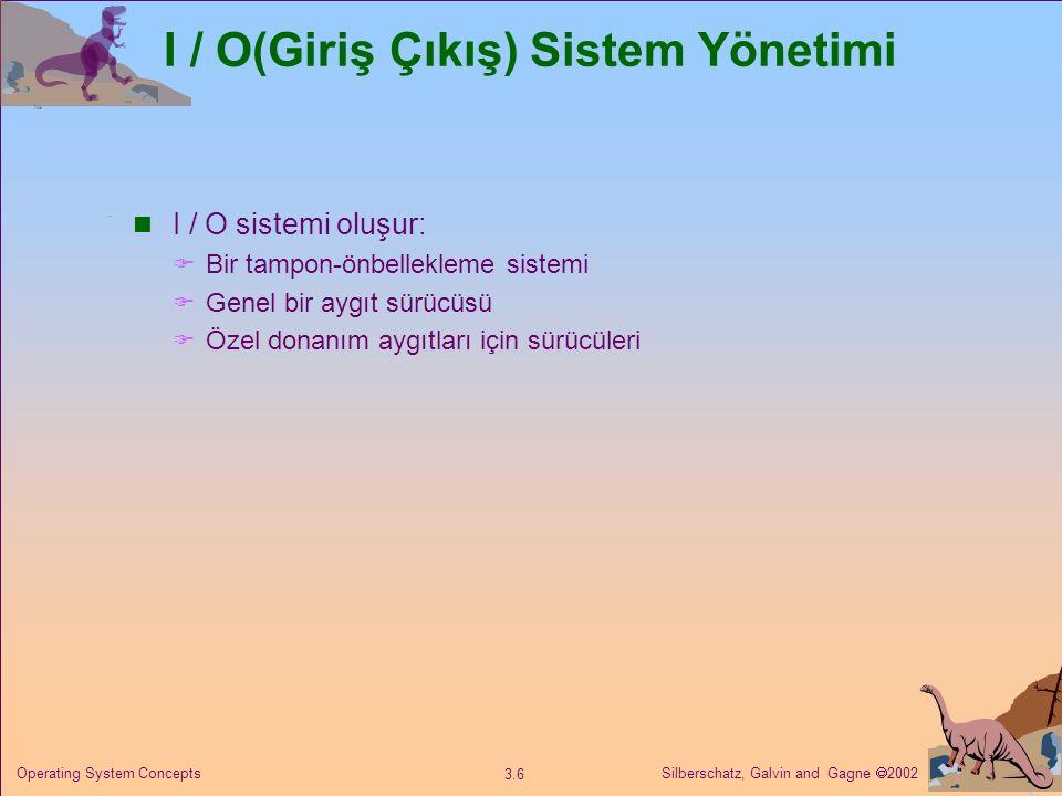 I / O(Giriş Çıkış) Sistem Yönetimi