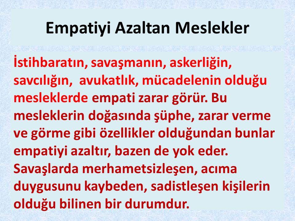 Empatiyi Azaltan Meslekler