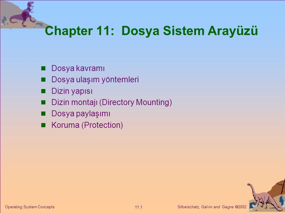 Chapter 11: Dosya Sistem Arayüzü