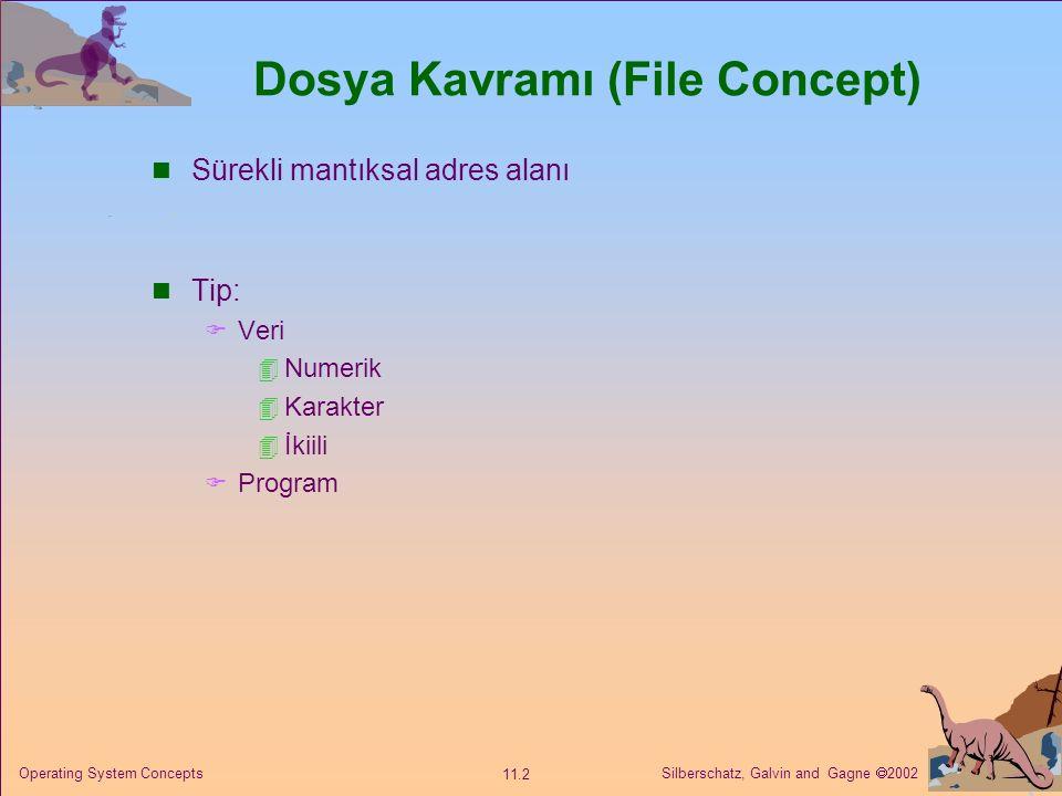 Dosya Kavramı (File Concept)
