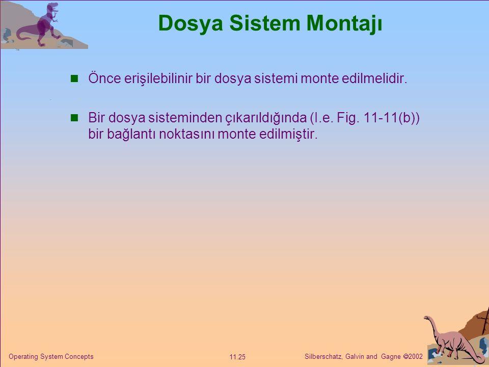 Dosya Sistem Montajı Önce erişilebilinir bir dosya sistemi monte edilmelidir.
