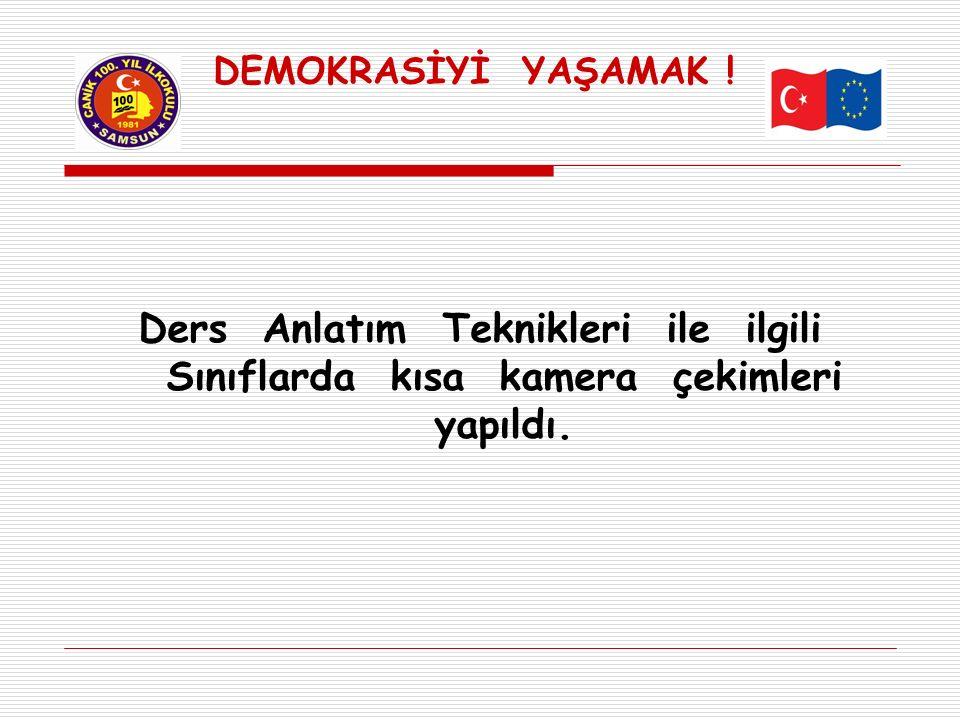 DEMOKRASİYİ YAŞAMAK .