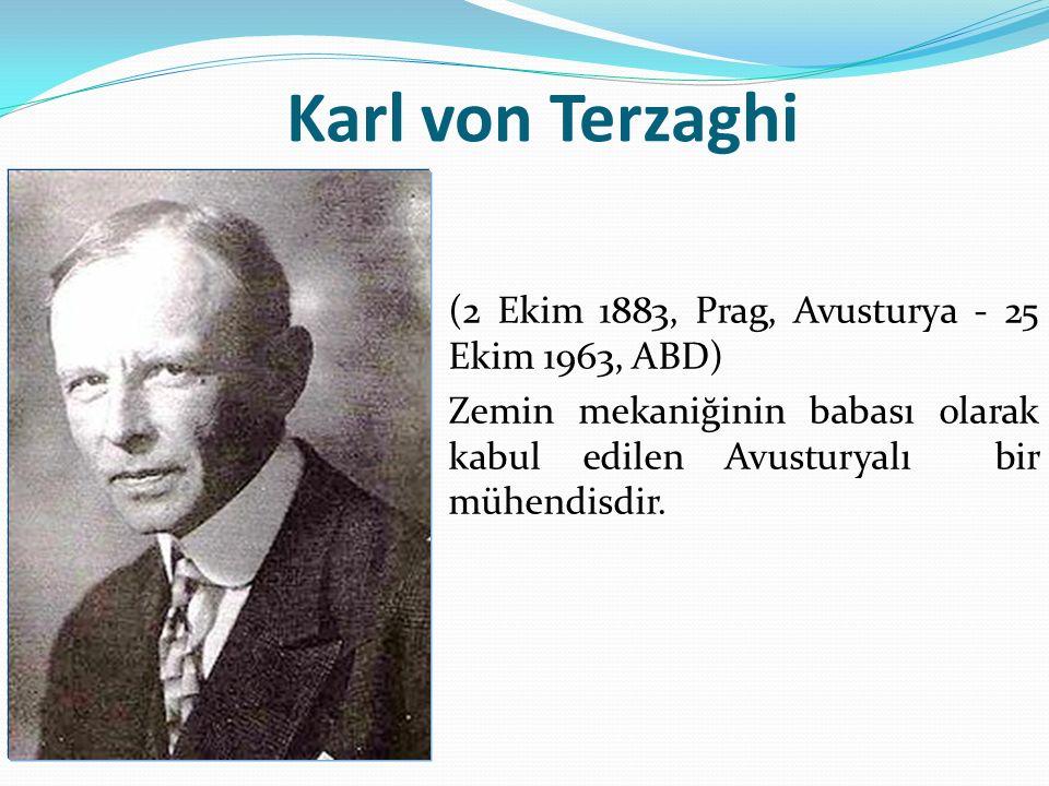 Karl von Terzaghi (2 Ekim 1883, Prag, Avusturya - 25 Ekim 1963, ABD) Zemin mekaniğinin babası olarak kabul edilen Avusturyalı bir mühendisdir.