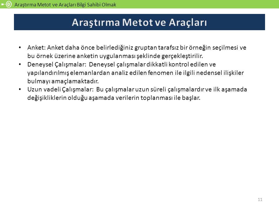 Araştırma Metot ve Araçları