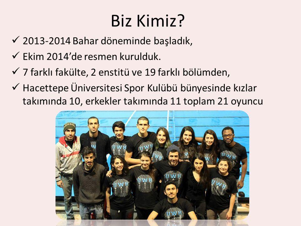 Biz Kimiz 2013-2014 Bahar döneminde başladık,