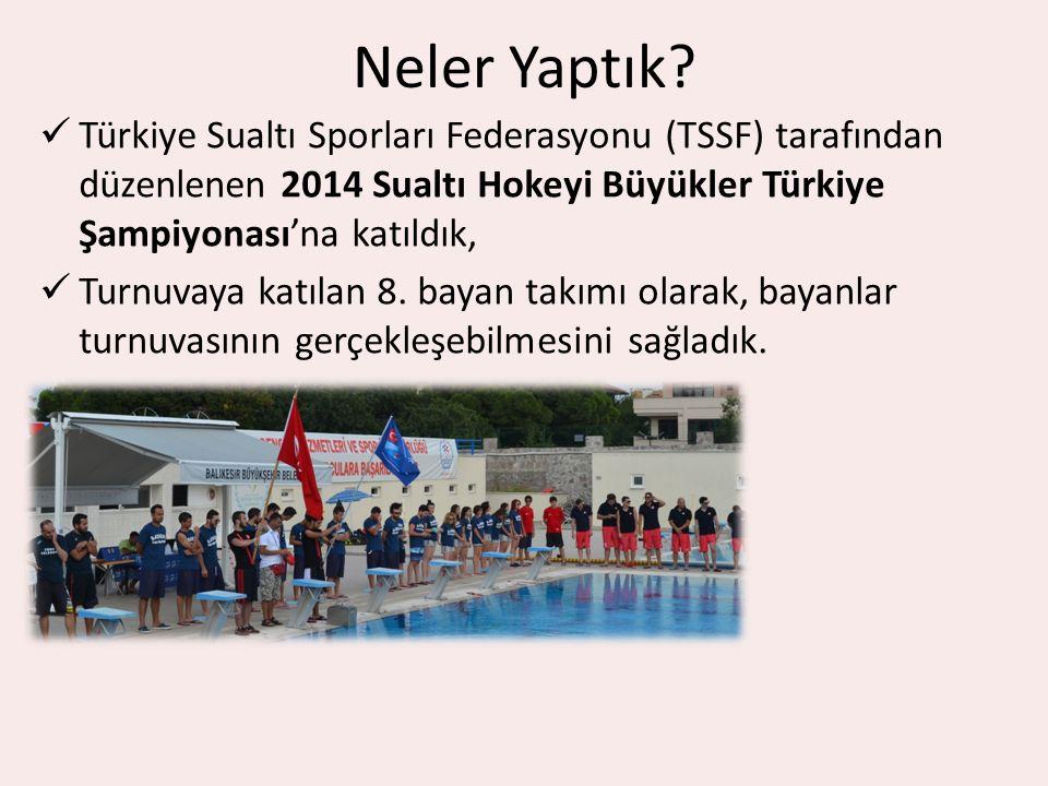 Neler Yaptık Türkiye Sualtı Sporları Federasyonu (TSSF) tarafından düzenlenen 2014 Sualtı Hokeyi Büyükler Türkiye Şampiyonası'na katıldık,