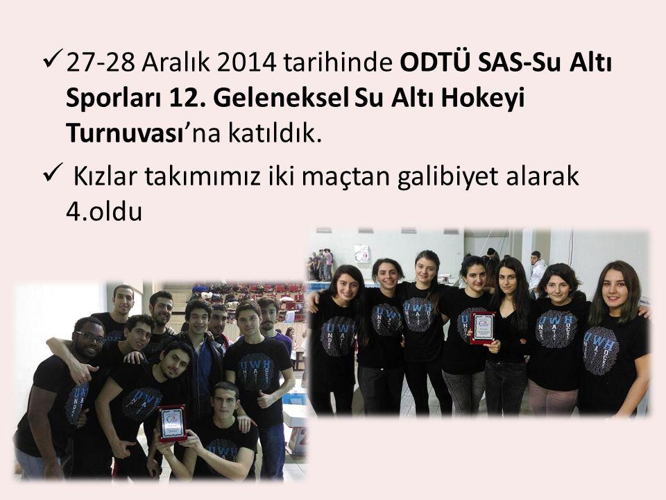 27-28 Aralık 2014 tarihinde ODTÜ SAS-Su Altı Sporları 12