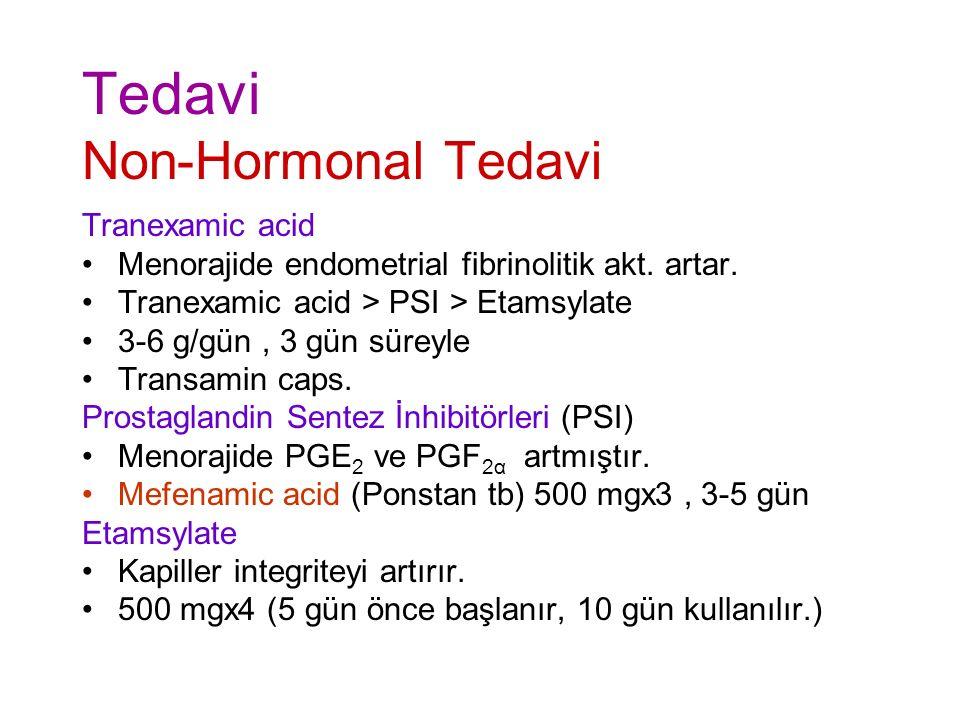 Tedavi Non-Hormonal Tedavi