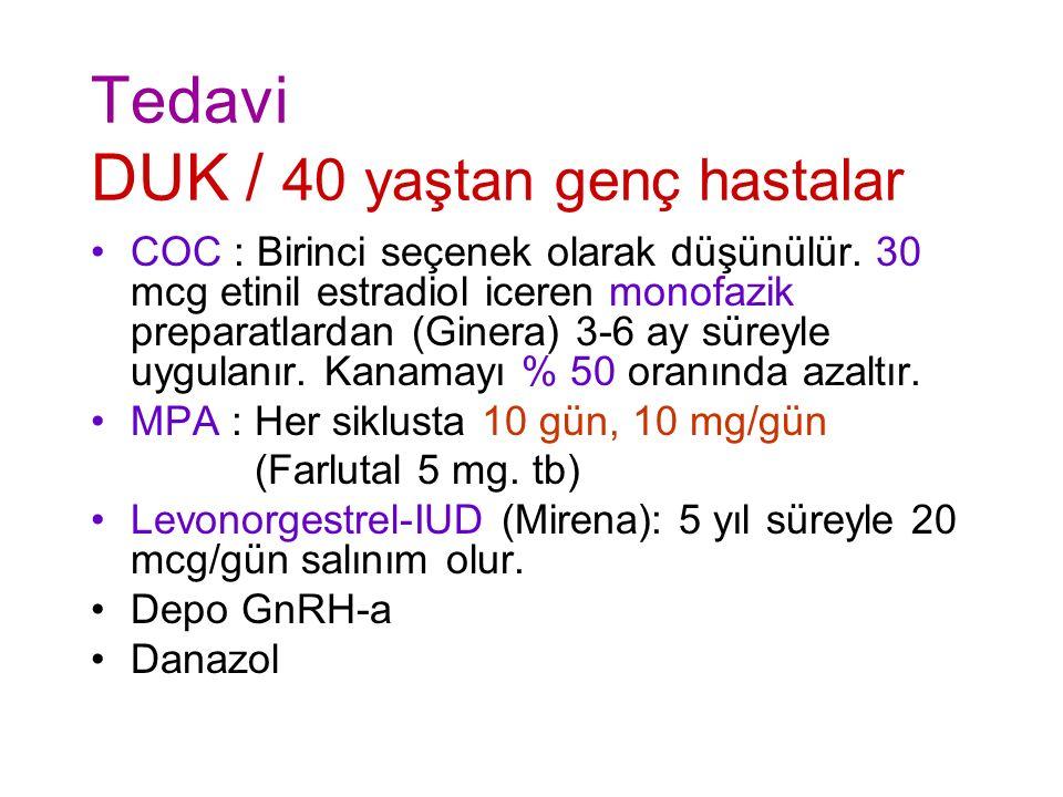 Tedavi DUK / 40 yaştan genç hastalar
