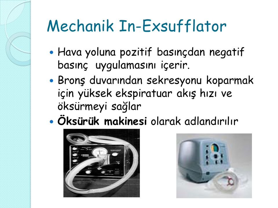 Mechanik In-Exsufflator