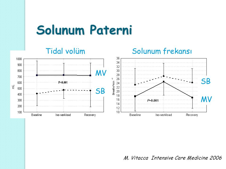 Solunum Paterni Tidal volüm Solunum frekansı MV SB SB MV