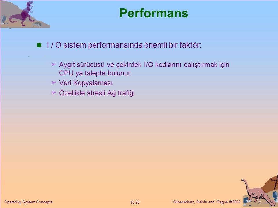Performans I / O sistem performansında önemli bir faktör: