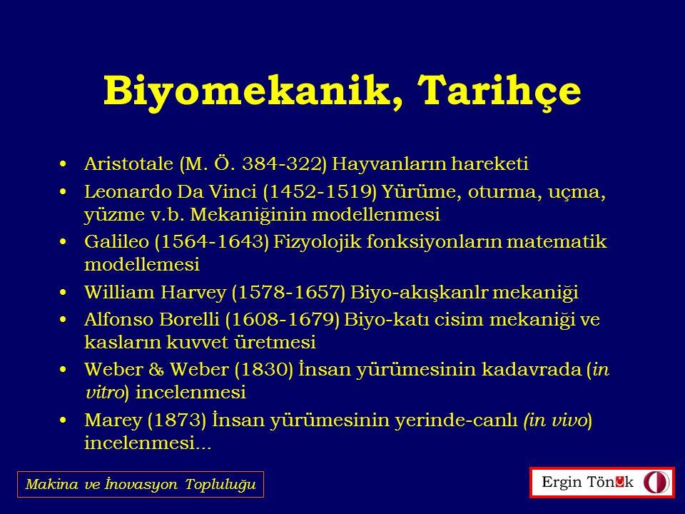 Biyomekanik, Tarihçe Aristotale (M. Ö. 384-322) Hayvanların hareketi