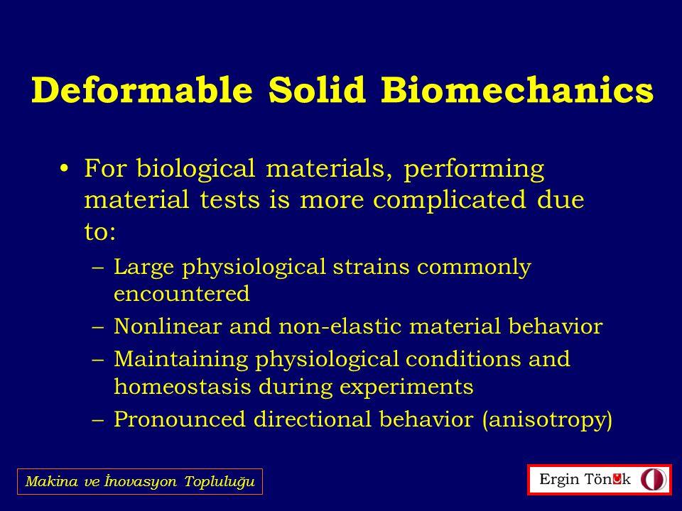 Deformable Solid Biomechanics