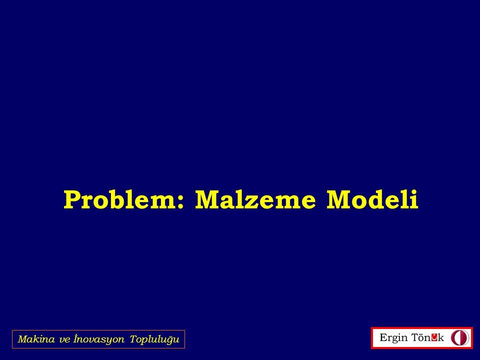 Problem: Malzeme Modeli