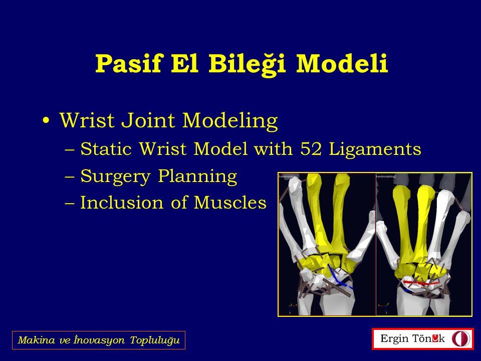 Pasif El Bileği Modeli Wrist Joint Modeling