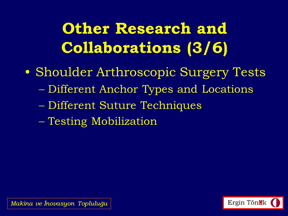 Other Research and Collaborations (3/6)