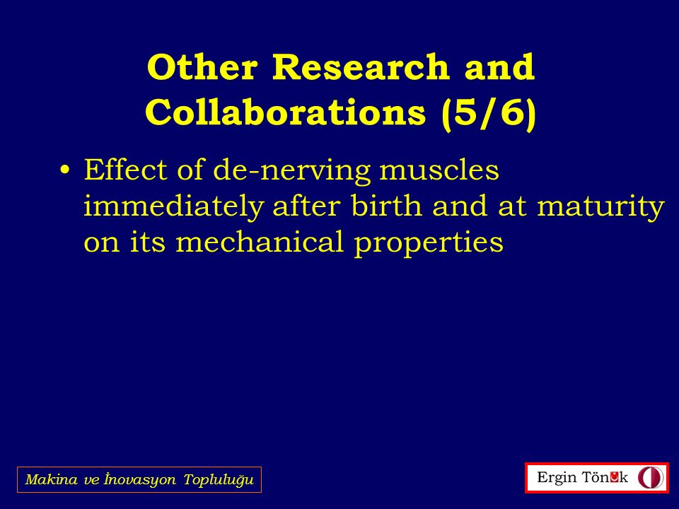 Other Research and Collaborations (5/6)