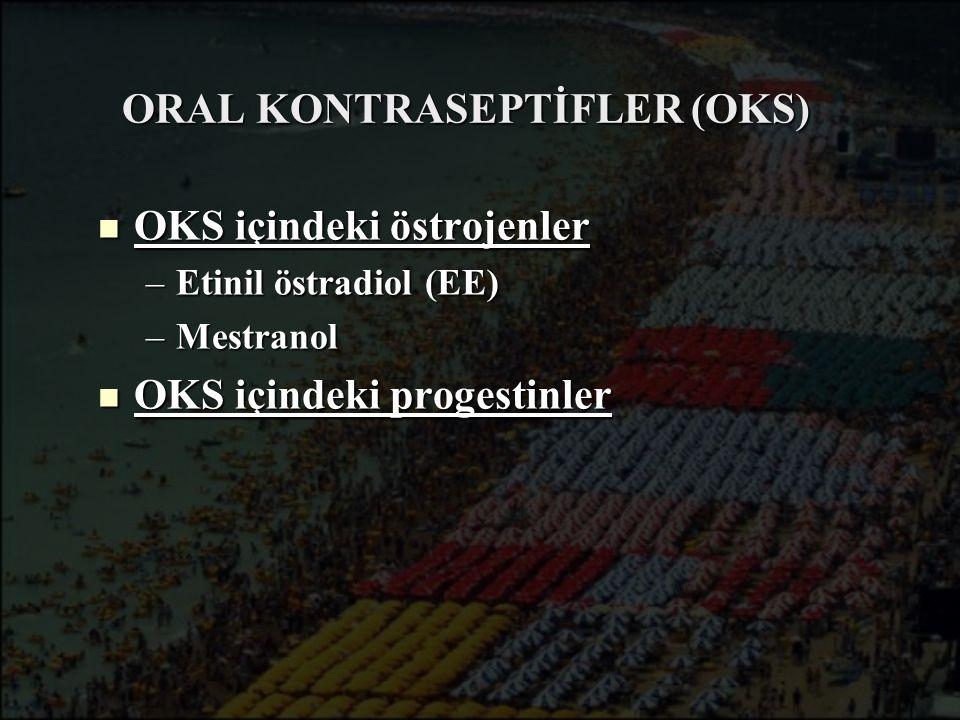 ORAL KONTRASEPTİFLER (OKS)