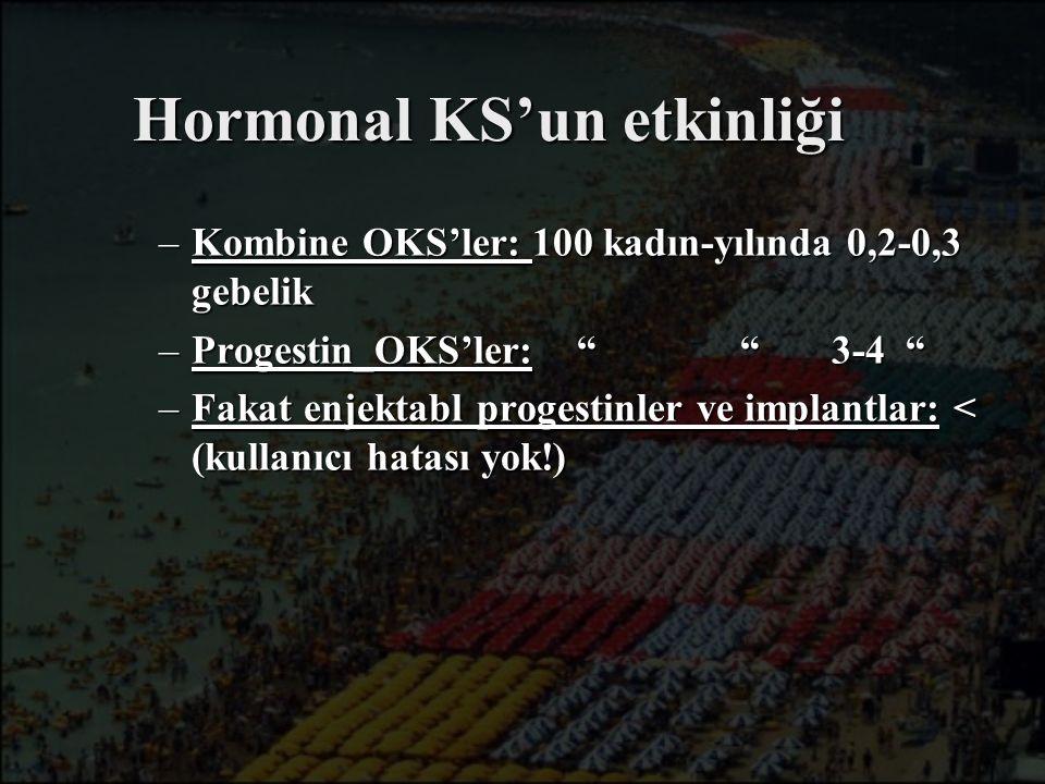 Hormonal KS'un etkinliği