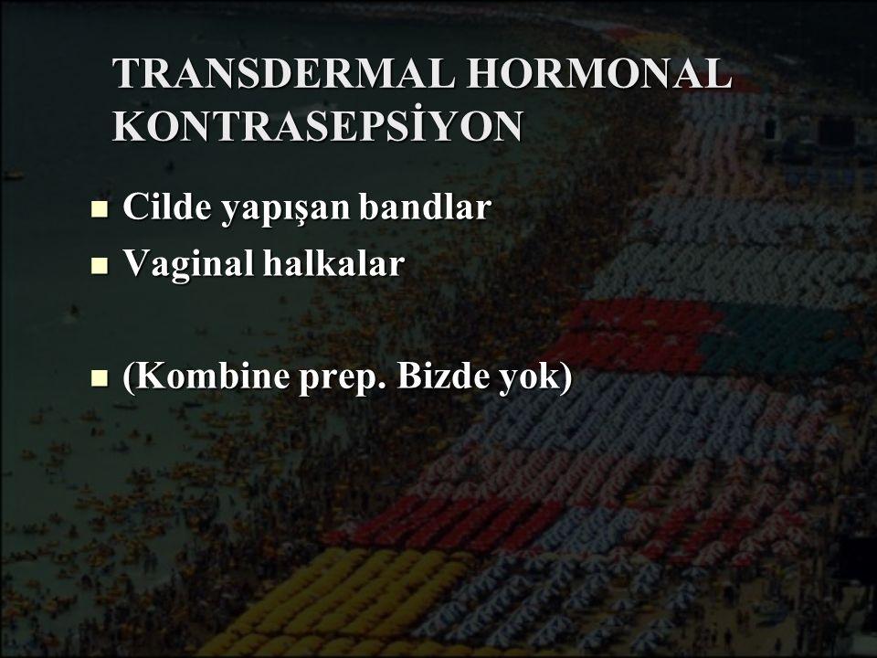 TRANSDERMAL HORMONAL KONTRASEPSİYON