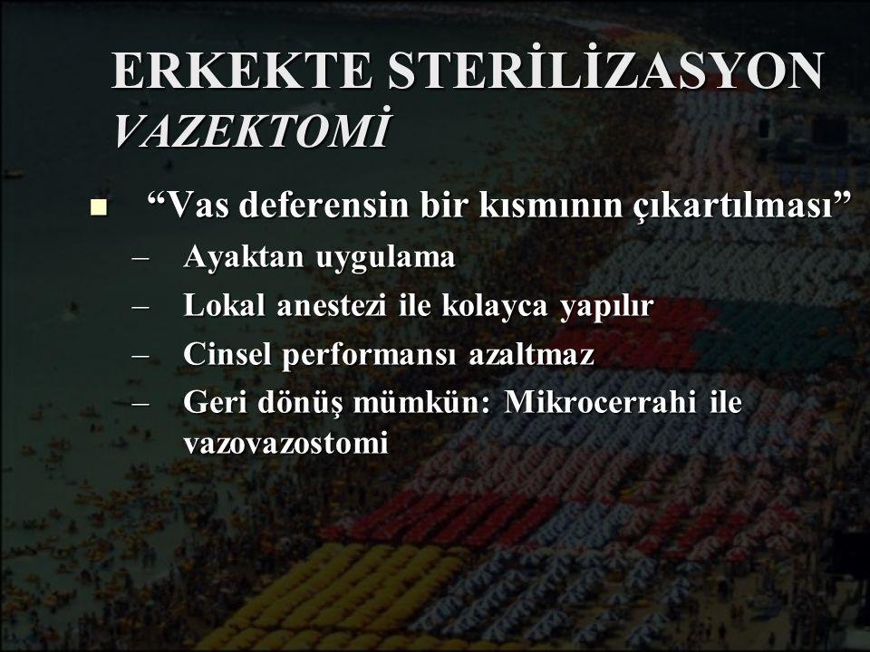 ERKEKTE STERİLİZASYON VAZEKTOMİ