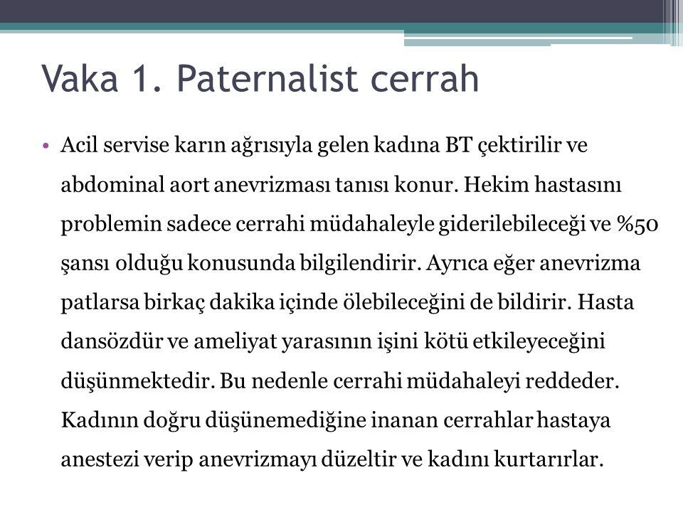 Vaka 1. Paternalist cerrah