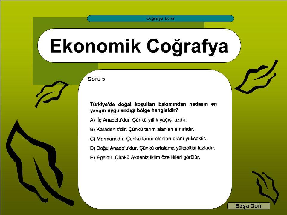 Coğrafya Dersi Ekonomik Coğrafya Soru 5 Başa Dön