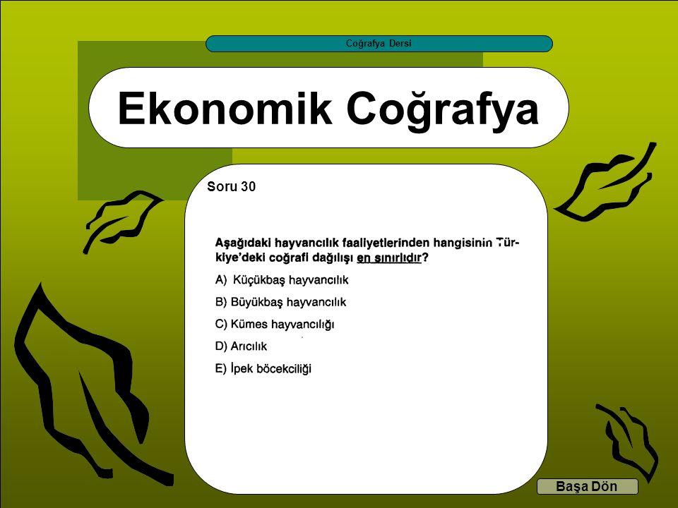 Coğrafya Dersi Ekonomik Coğrafya Soru 30 Başa Dön