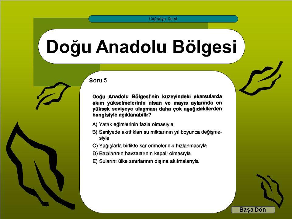 Coğrafya Dersi Doğu Anadolu Bölgesi Soru 5 Başa Dön