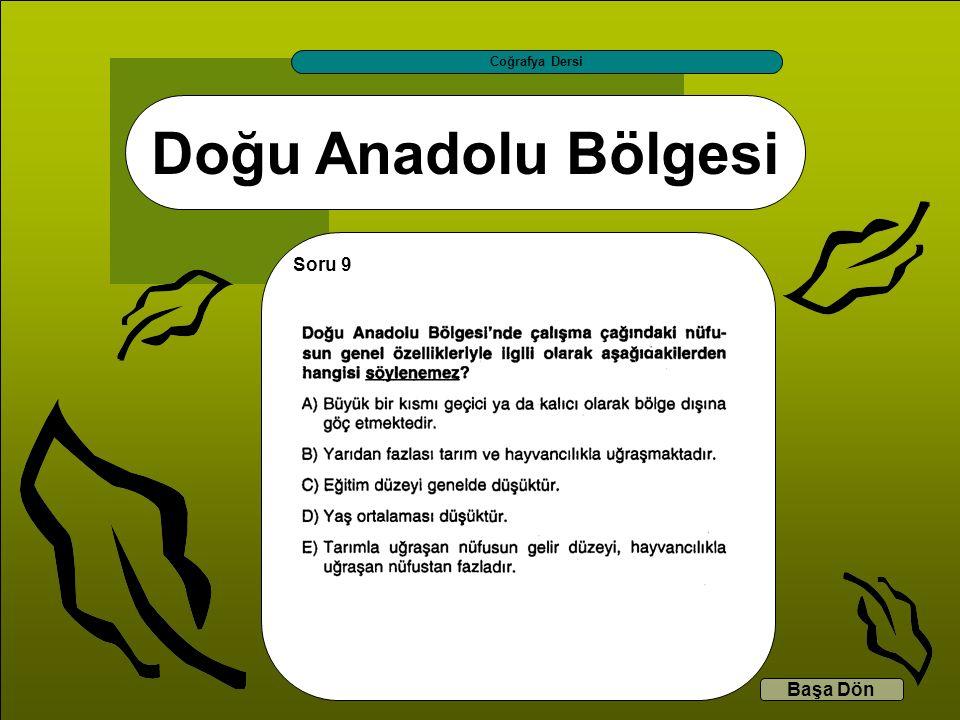 Coğrafya Dersi Doğu Anadolu Bölgesi Soru 9 Başa Dön