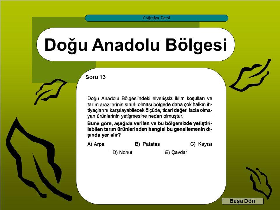 Coğrafya Dersi Doğu Anadolu Bölgesi Soru 13 Başa Dön