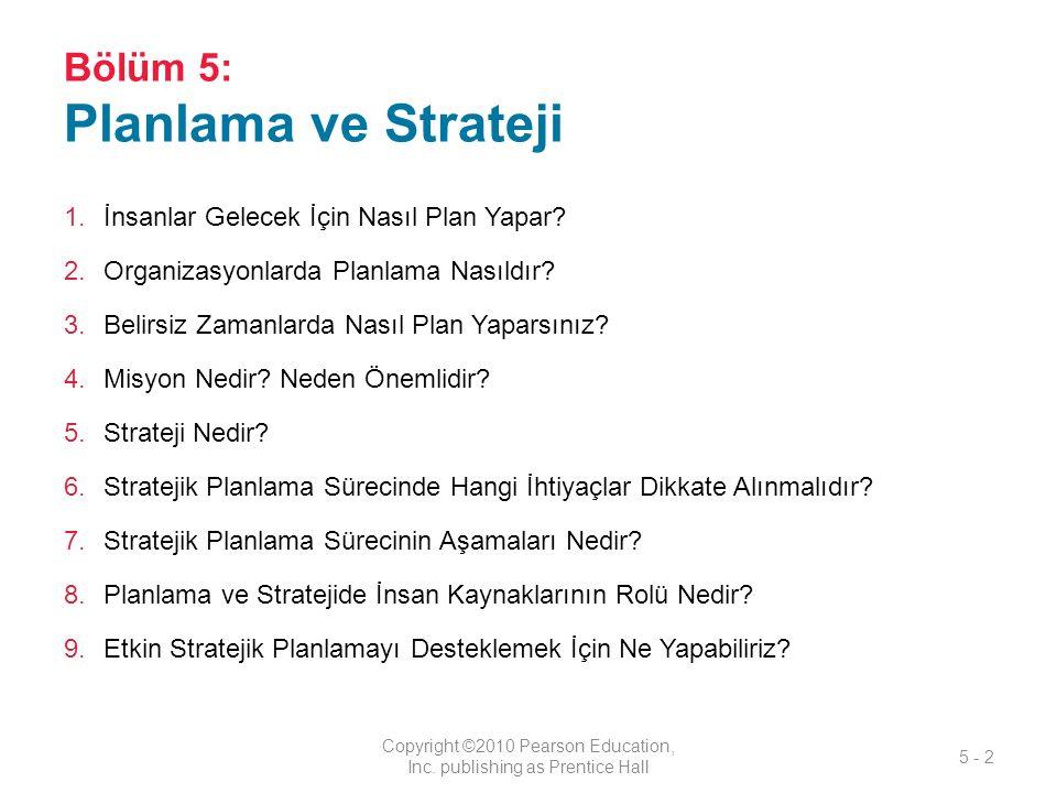 Bölüm 5: Planlama ve Strateji