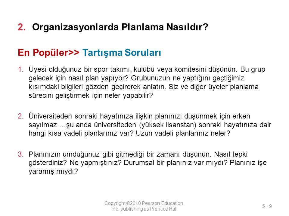 Organizasyonlarda Planlama Nasıldır
