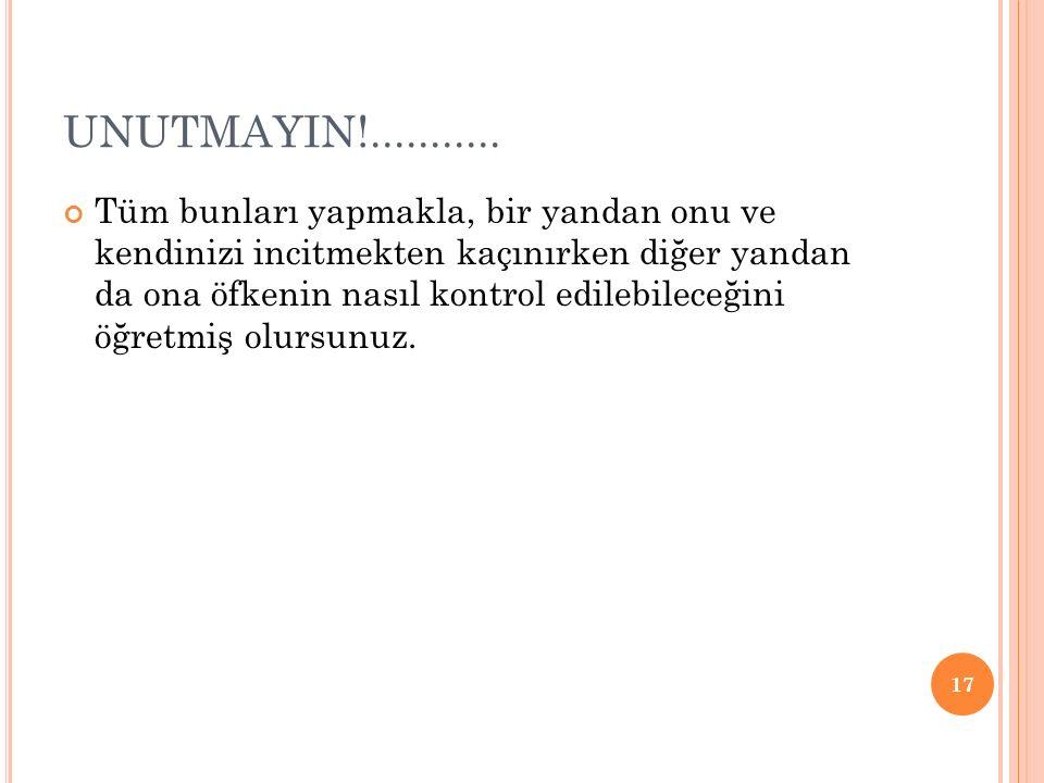 UNUTMAYIN!...........