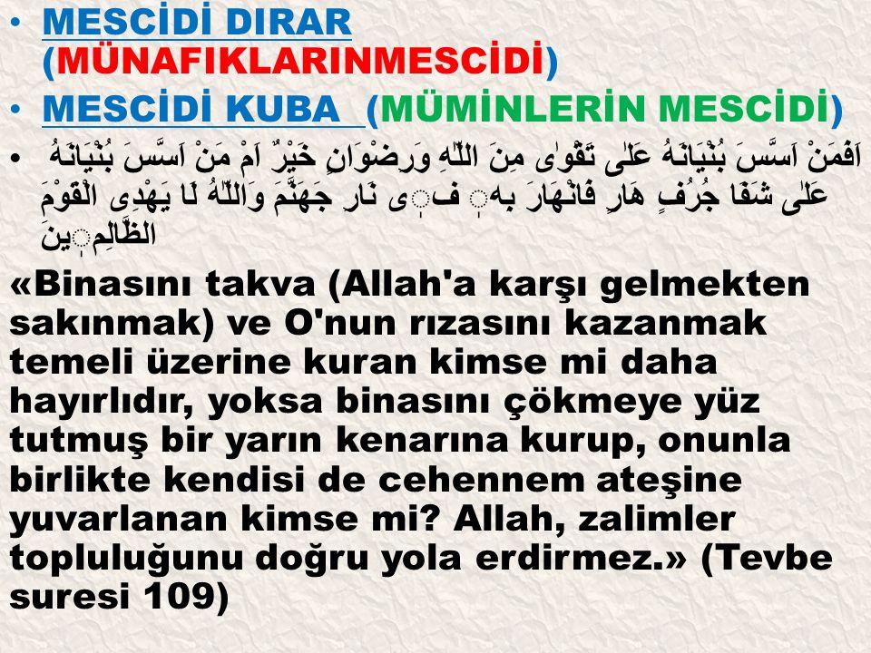 MESCİDİ DIRAR (MÜNAFIKLARINMESCİDİ)