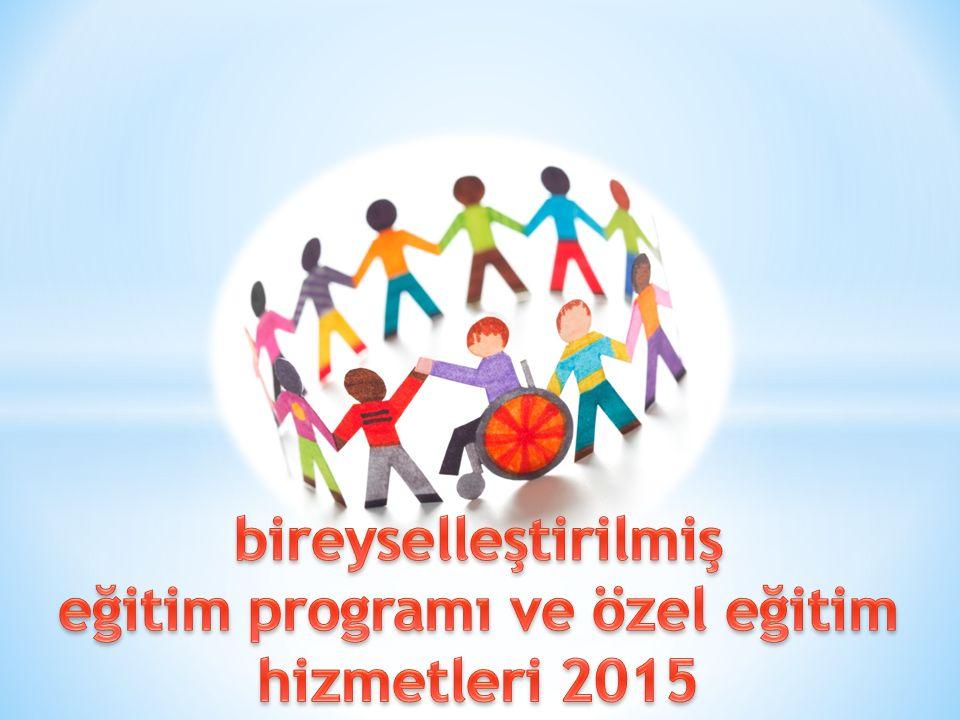 eğitim programı ve özel eğitim hizmetleri 2015