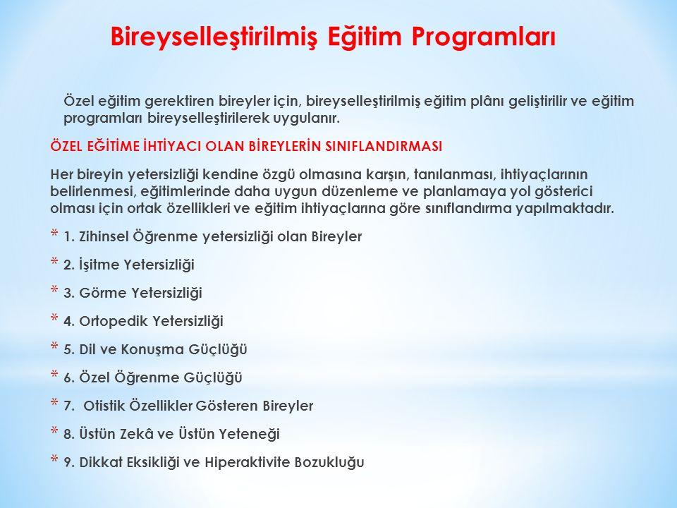 Bireyselleştirilmiş Eğitim Programları