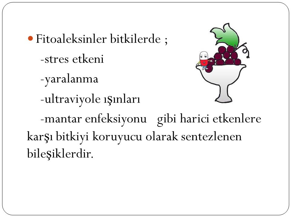 Fitoaleksinler bitkilerde ;