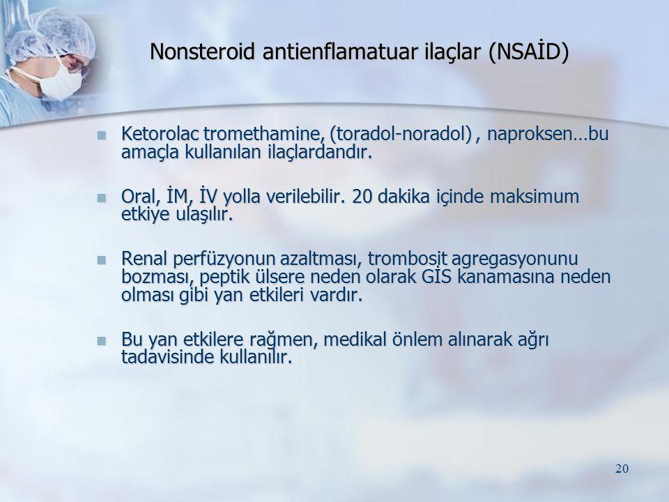 Nonsteroid antienflamatuar ilaçlar (NSAİD)