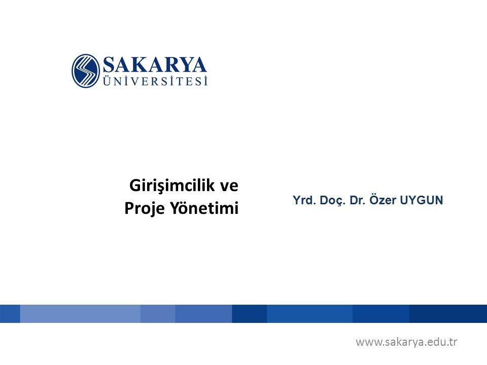 Girişimcilik ve Proje Yönetimi