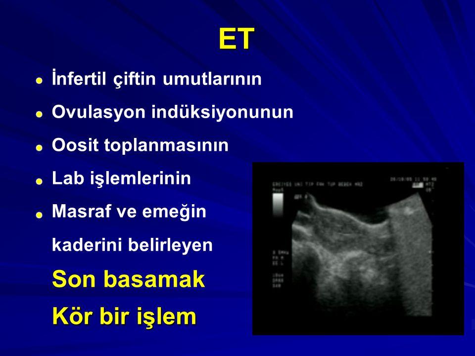 ET Son basamak Kör bir işlem İnfertil çiftin umutlarının