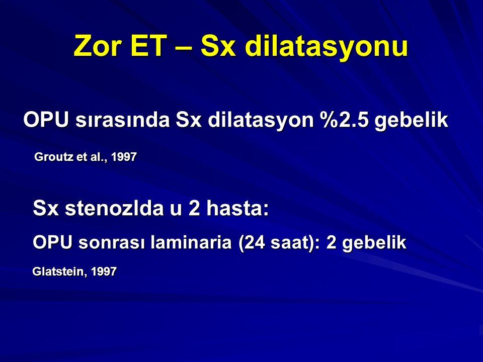 OPU sırasında Sx dilatasyon %2.5 gebelik