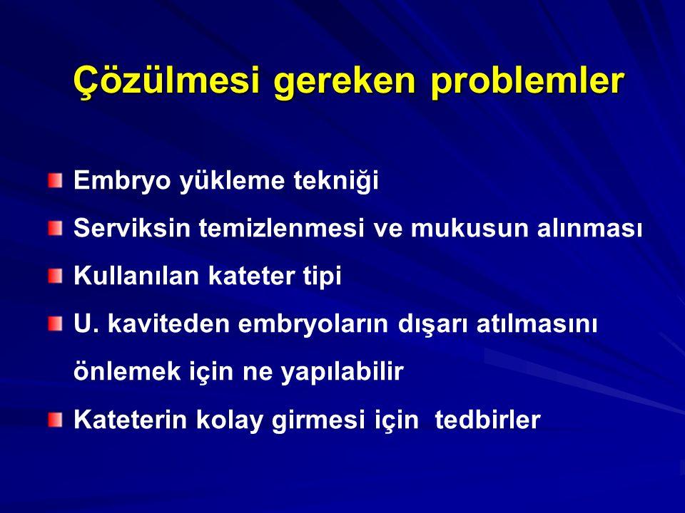 Çözülmesi gereken problemler
