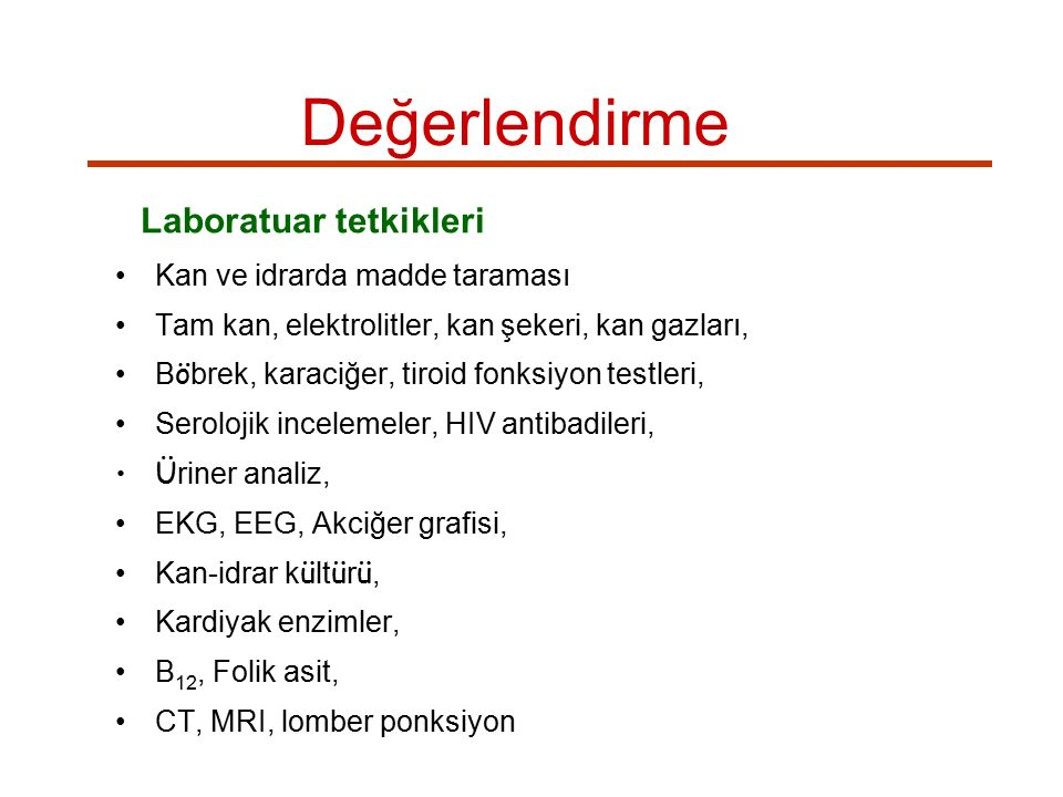 Laboratuar tetkikleri