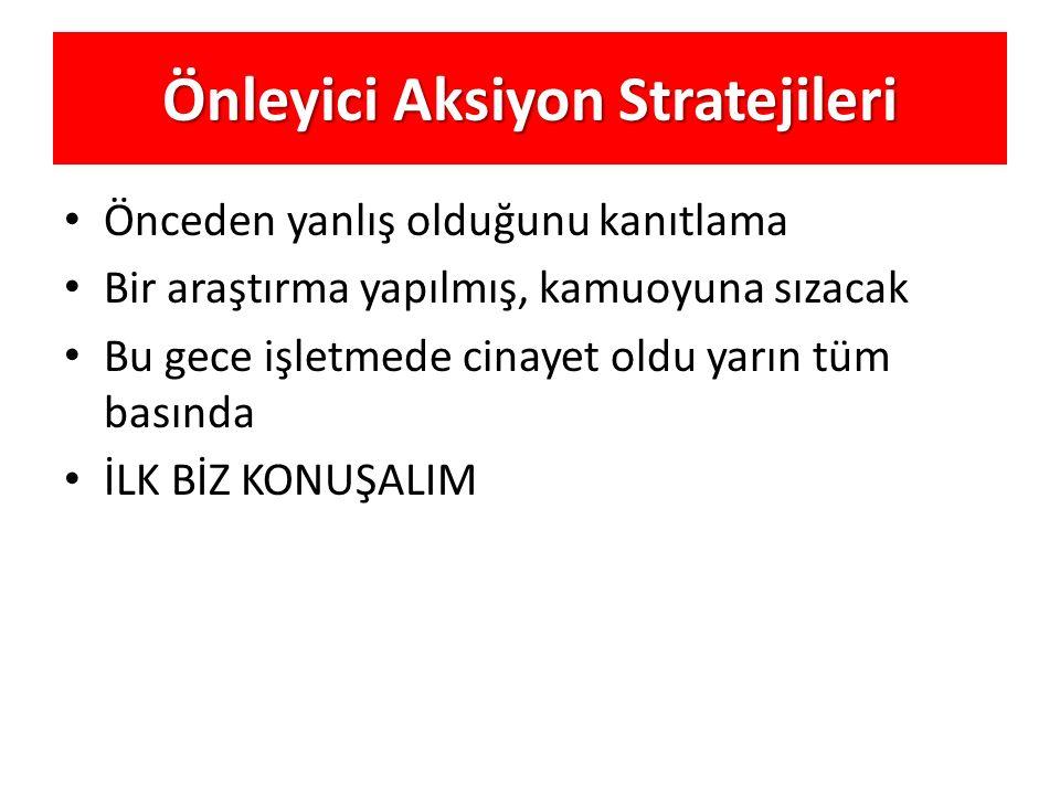 Önleyici Aksiyon Stratejileri