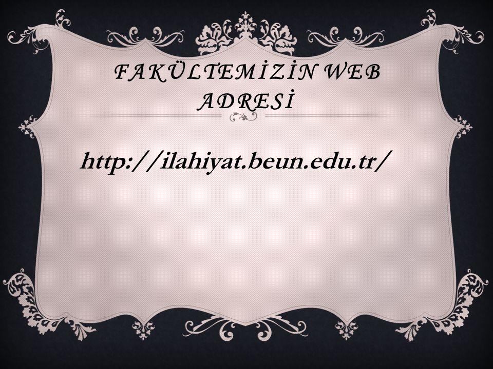 Fakültemİzİn web adresİ